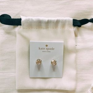 kate spade silver and and gold earrings